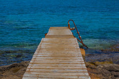 Jetty in the Sea. Stock Photos