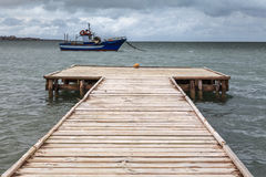 Jetty at seasalt of Trapani Stock Photography