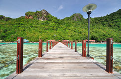 Jetty in Semporna, Sabah Borneo Royalty Free Stock Photo