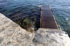 Jetty in Spain Royalty Free Stock Photography