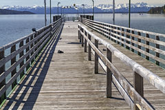 Jetty at Starnberger See Lake in Bavaria Stock Image