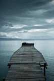 Jetty before storm Royalty Free Stock Photo
