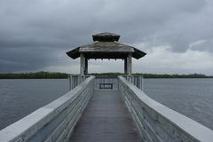 Jetty on a stormy day, Florida Stock Photography