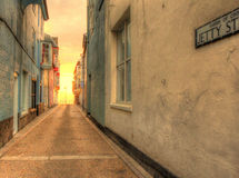 Jetty Street, Cromer in HDR. Royalty Free Stock Images