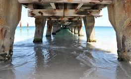 Jetty Structure: Underside Perspective Stock Photography