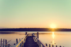 Jetty at Sunrise Royalty Free Stock Image