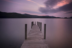 Jetty at sunrise Royalty Free Stock Images