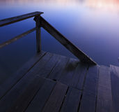 Jetty at sunrise in Sabah, Borneo Stock Images