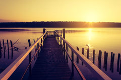 Jetty at Sunrise Royalty Free Stock Photos