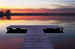 Jetty sunset Stock Image