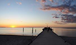 Jetty at Sunset: Indian Ocean, Western Australia Stock Photos