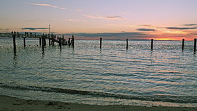 Jetty at sunset Stock Photography