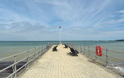 Jetty at Swanage Stock Photography
