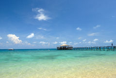 Jetty on Tioman Island, Malaysia Royalty Free Stock Image