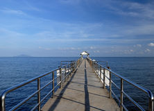 Jetty on Tioman Island, Malaysia. Exotic island in South-East Asia Royalty Free Stock Photography