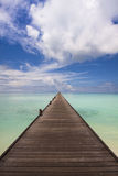 Jetty to the horizon Stock Photography