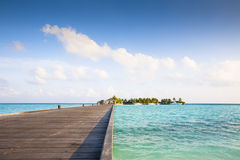 jetty to the island Stock Photography