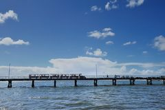 Jetty train, busselton, western australia Royalty Free Stock Photos