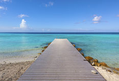 Jetty at tropical beach Stock Photo