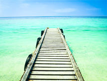 Jetty on Tropical Island Stock Photography
