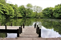 Jetty in the vale Royalty Free Stock Images