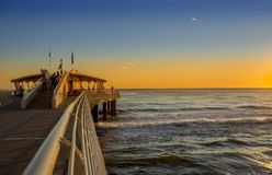 Jetty. View of the jetty of Lido di Camaiore, Lucca, Italy Royalty Free Stock Image