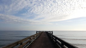 Jetty with view of sea Royalty Free Stock Photo