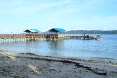 Jetty of village Arborek. Jetty of turistic village Arborek (Raja Ampat, Papua Barat, Indonesia Royalty Free Stock Images