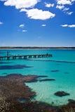 Jetty w pięknej zatoce Zdjęcie Royalty Free