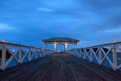 Jetty walkway with pavilion Royalty Free Stock Photography