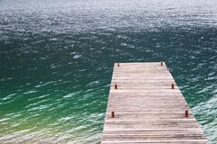 Jetty in water Stock Photography