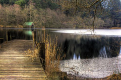 jetty and water, loch Ard Royalty Free Stock Photography