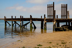 Jetty in Velddrif, West coast, South Africa. Stock Photography