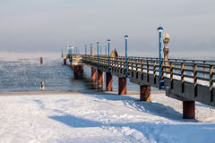 Jetty in Zingst Stock Photography