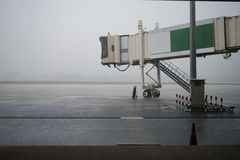 Jetway during rain Royalty Free Stock Images