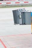 jetway tomt för flygplan Royaltyfri Foto