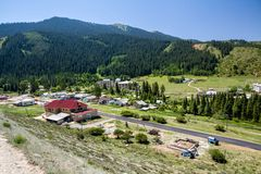 Jety Oguz health resort. Kyrgyzstan Stock Photo