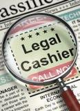 Jetzt anstellender legaler Kassierer 3d lizenzfreies stockbild