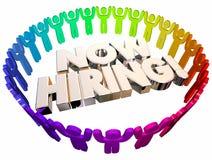 Jetzt anstellender offener Job Positions Career People Lizenzfreie Stockbilder