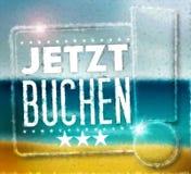 Jetzt Buchen Stock Image