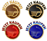 JETZT KAUFEN - set of german web buttons stock illustration