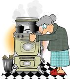 Jetzt kochen wir mit Gas Stockfoto
