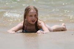 Jeu à la plage Photographie stock