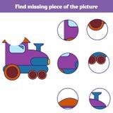 Jeu éducatif assorti d'enfants Pièces d'insectes de match Trouvez le puzzle absent Activité pour des enfants d'années pré scolair illustration stock