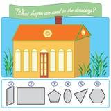 Jeu éducatif de puzzle pour des enfants illustration libre de droits