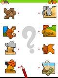 Jeu éducatif de puzzles de puzzle de match illustration libre de droits