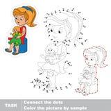 Jeu éducatif de trace de vecteur pour les enfants préscolaires Photo stock