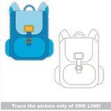Jeu éducatif de trace de vecteur pour les enfants préscolaires illustration stock