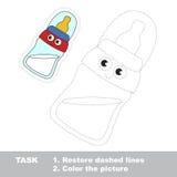 Jeu éducatif de trace de vecteur pour les enfants préscolaires images libres de droits
