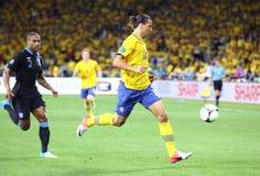 Jeu 2012 d'EURO de l'UEFA Suède contre l'Angleterre Photographie stock libre de droits